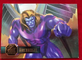Marvel Flair Annual 1995 Power Blast Archangel Single Card - $4.99