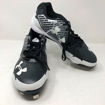 NWOB Mens Under Armour Heater ST Baseball Metal Cleats Size 14 Black White - $33.65