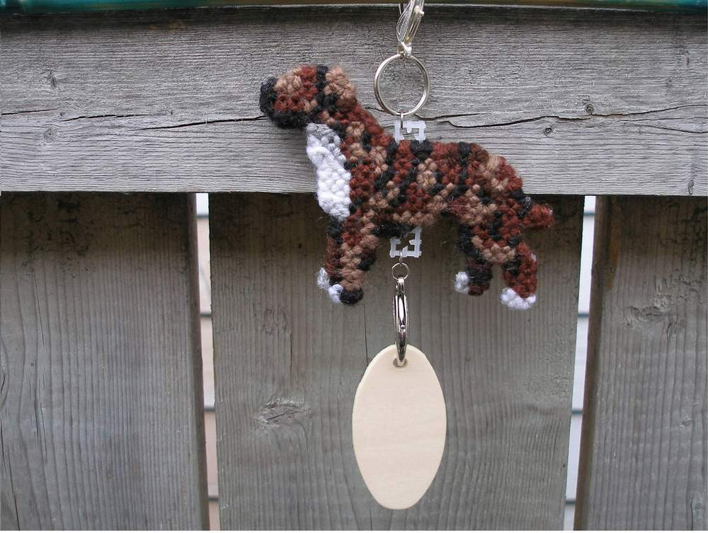 Staffordshire Bull Terrier dog crate tag or hang anywhere art, pit bull pitbull