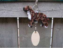 Staffordshire Bull Terrier dog crate tag or hang anywhere art, pit bull ... - $18.00