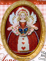 Love Spirit Angel Ornament chart only cross stitch chart Brooke's Books - $5.40