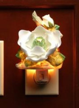 Cosmos 2126 Fine Porcelain Lighted Magnolia Night Light, 3-1/8-Inch - $38.02