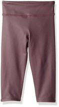 NWT $44 Kids Girls Onzie Yoga Capri Pant Legging in Purple Fishnet sz 7 / 8 - $11.88