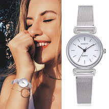 Gaiety® Women Stainless Steel Silver Gold Mesh Watch Unique Simple Casua... - $6.34+