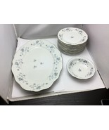 Johann Haviland BLUE GARLAND Large Oval Plate, Small Bowl and 10 Saucers... - $99.00