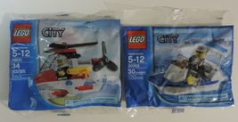 LEGO City sets 4900 Fireman Helicopter & 30002 Police Boat w/ minifigure... - $12.00