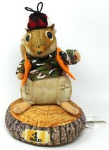 GEMMY HYPERREAL MAGOGO HUNTER SQUIRREL SINGS BOYS ROUND HERE #1 DAD PLUS... - $18.69