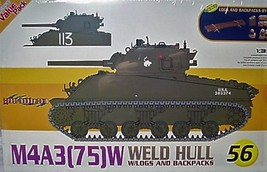 Cyber-Hobby 1/35 kit 9156  WW2 USA M4A3 Weld Hull Sherman Tank  w/bonus image 1