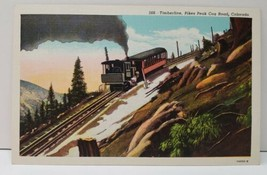 Colorado, Timberline Pikes Peak Cog Road, Cog Train  c1950 Postcard C10 - $2.95