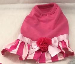 Top Paw Stripe Skirt Pink Dog Dress X-SMALL SKU 5260637 UPC 73725771687 - $15.83