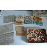Parker Brothers Inc 1936 Finance Or House and Lot Pieces Money w Instruc... - $28.99