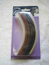 """6 Goody 5"""" Plastic Shelli Banana Clips Hair Updo Frosted Black Brown Tortoise - $8.00"""