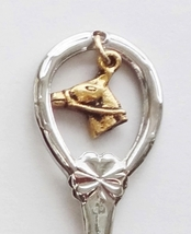 Collector Souvenir Spoon USA Kentucky Horse Head Charm Map - $2.99
