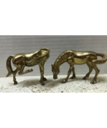 Pair of Vintage  BRASS HORSE Figurines Equestrian Collectibles MID CENTURY - $14.00