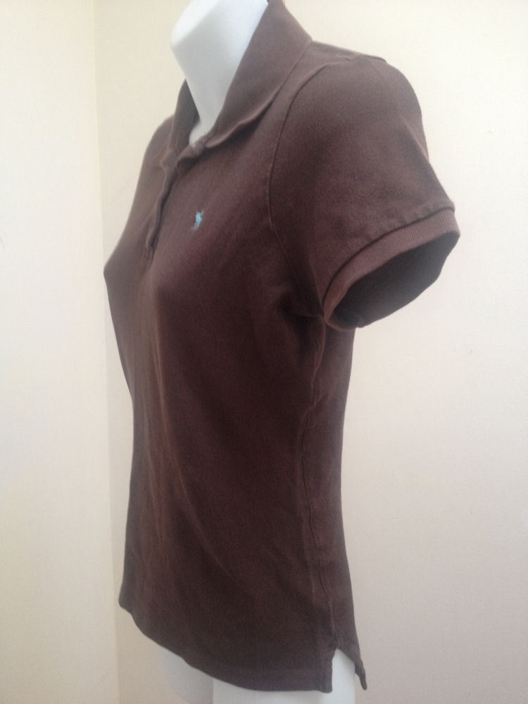 Abercrombie & Fitch Girls L Polo Shirt Brown Top School image 2