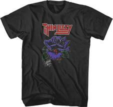 Thin Lizzy-Black Rose- 2X Black T-shirt - $19.34
