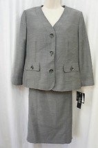"Le Suit Skirt suit Sz 8 Black White ""Tuileries"" Business Cocktail Dinner... - $89.04"