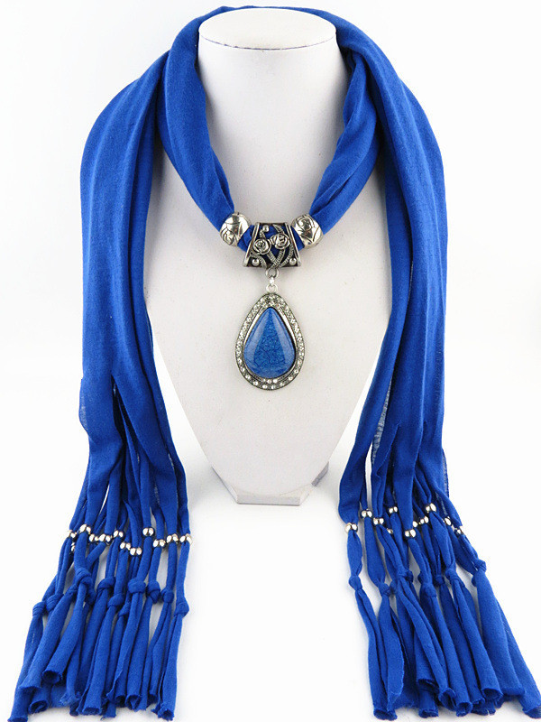 Charms Scarf jellery pendant Scarf Scarves lace Scarf image 7
