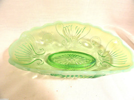 Green Opalescent Relish or Pickle Dish - $19.99