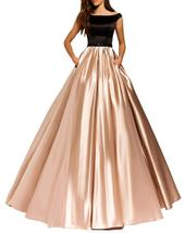 Boateau Long Beaded Evening Dress Off Shoulder Formal Prom Party Gown Po... - $113.99