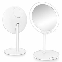 Lighted Makeup Mirror, Morpilot 7.8'' 1X Vanity LED Mirror with 3 Color ... - $40.41