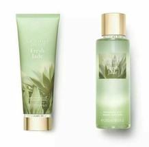 2 Pc Victoria Secret Fresh Jade Fragrance Mist & Lotion Gift Set New - $34.99