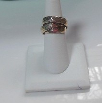 Vintage 925 Sterling Silver Twisted Hammered Ring -Size 6.5 - $47.52