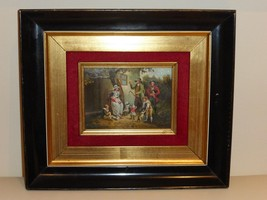 ANTIQUE FAMILY SCENE PAINTING SIGNED BY THE ARTIST - $1,400.00