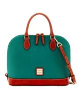 DOONEY AND BOURKE Zip zip Satchel Green Exterior Red Interior NWT nwt - $137.73