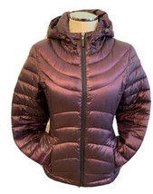Small Andrew Marc Metallic Purple Fitted Winter Packable Lightweight Dow... - $55.17