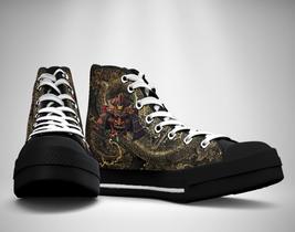 Samurai Japanese Warrior Bushido  Canvas Sneakers Shoes - $49.99