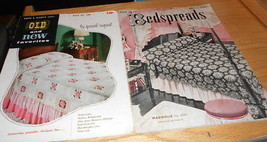 Crochet Booklets Bedspreads (2)OLD &New Coats & Clark ,Bedspreads Spool Cotton - $3.99