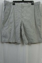Tommy Hilfiger Mens Shorts Sz 40 White Blue Striped Casual Flat Front Sh... - $39.53