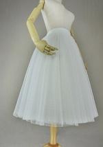 White Polka Dot Tulle Skirt White Ballerina Tulle Skirt Outfit image 4
