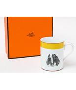 HERMES Porcelain Mug Cup Tableware Animal Dog German Pointer Pheasant Ye... - $359.63