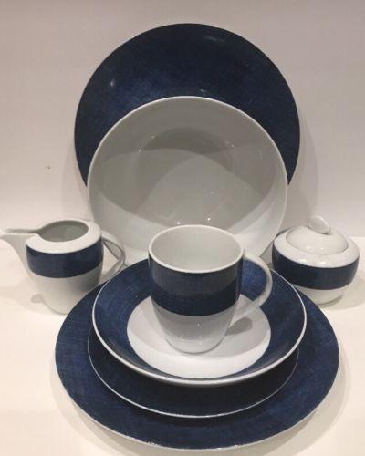 25 Pc Studio Nova Blue Denim Fine Porcelain China Y0725 White u0026 Blue Dinnerware & 25 Pc Studio Nova Blue Denim Fine Porcelain and 20 similar items