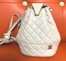 Auth CHANEL Shoulder Bag White Matelasse Vintage Flap Logo Quilted Mediu... - $533.61