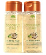 2 Bottles Tree Hut 10.94 Oz Coconut Lime With Fruit Extract Gel Body Wash - $20.99