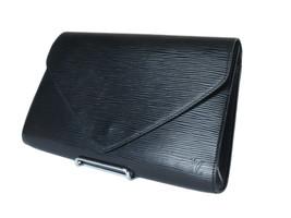 LOUIS VUITTON Arts Deco Epi Leather Black Pochette Clutch Bag LP3168 - $279.00