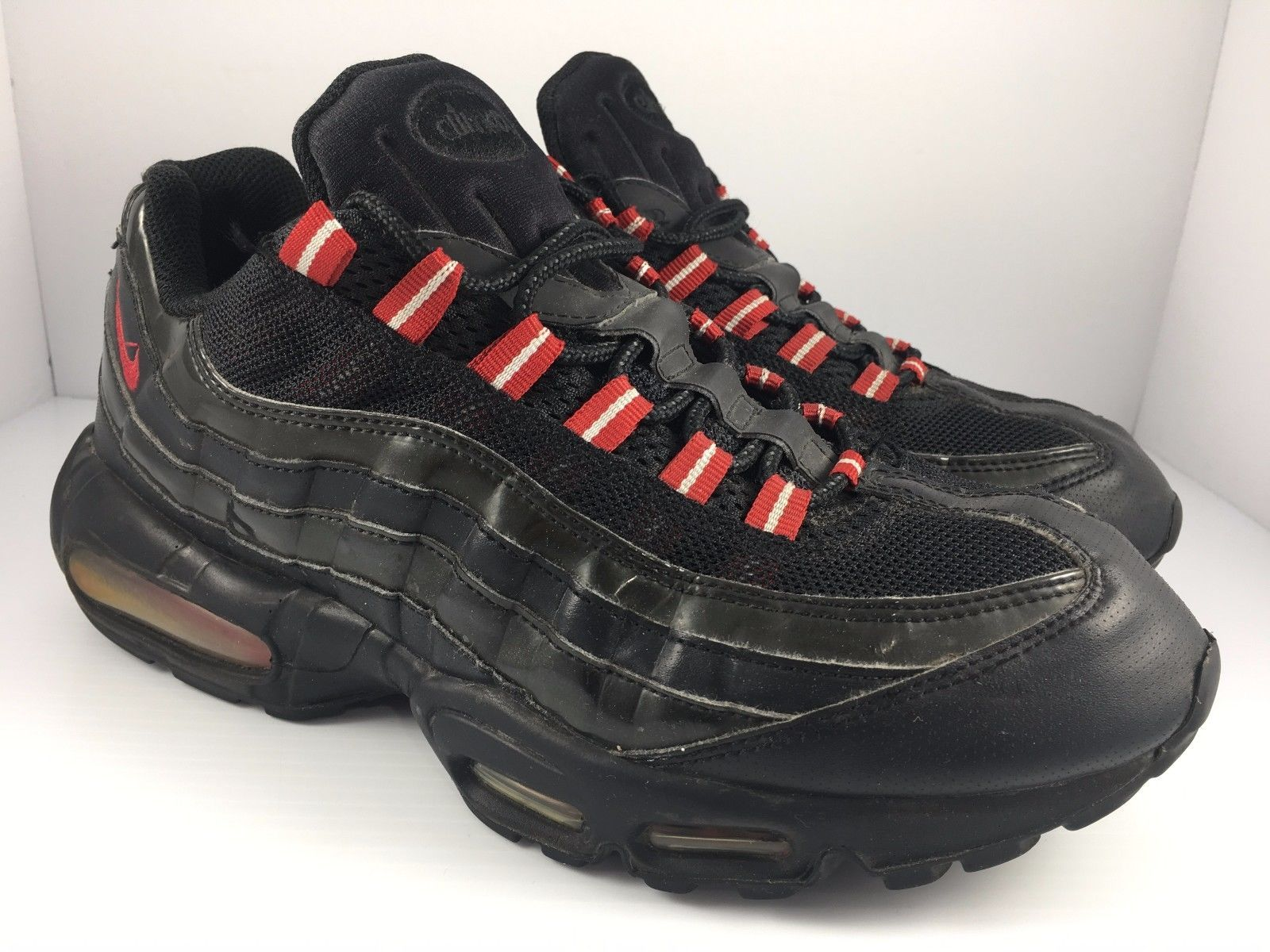 various colors 933c8 a1e13 ... Nike Air Max 95 size 10.5 Black Patent Black + Varsity Red Sneakers   609048-