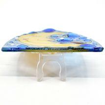 Fused Art Glass Hedgehog Sleeping on Moon Design Night Light Handmade in Ecuador image 5
