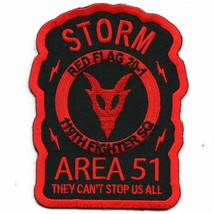 "4.5"" USAF AIR FORCE 119FS RED FLAG 20-1 STORM AREA 51 EMBROIDERED JACKET... - $18.99"
