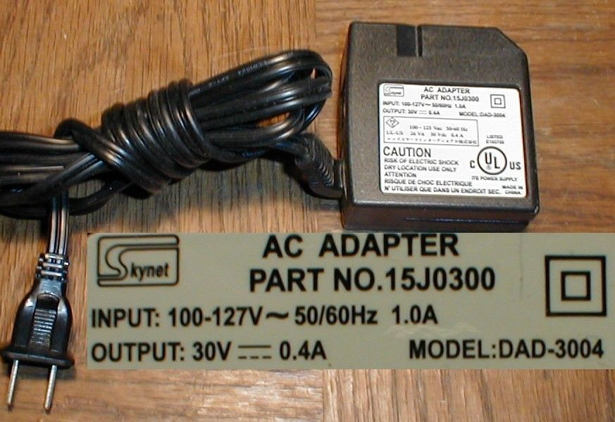 Skynet 15j0300 AC Adapter 30vdc DAD-3004 Lexmark Z Series  HP 3500  Dell 720