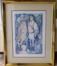 LISTED ARTIST IRVING AMEN (1918-2011) HAND SIGNED ARTIST'S PROOF LITHOGRAPH - $400.00