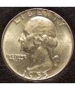 1955-D Silver Washington Quarter BU #0652 - $12.99