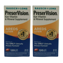 Bausch & Lomb PreserVision Lutein Eye Vitamin 120 caps Pack of 2 Exp 09-12/21 - $34.64