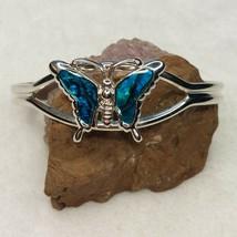 G20 Vintage Blue Butterfly Cuff Bracelet - $22.06