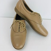 Easy Spirit Anti Gravity Beige Leather Motion9 Lace Up Walking Shoes 10 B Oxford - $39.59