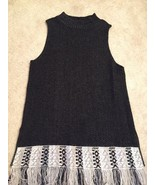 New Directions Sleeveless Long Sweater Fringe Great With Leggings Size M... - $12.86