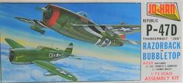 """JO-Han 1/72 Scale P-47D Thunderbolt """"JUG"""" Rajorback or Bubbletop  A-102 - $7.75"""